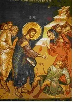 The healing of the two demonic. 5th Sunday of St. Matthew
